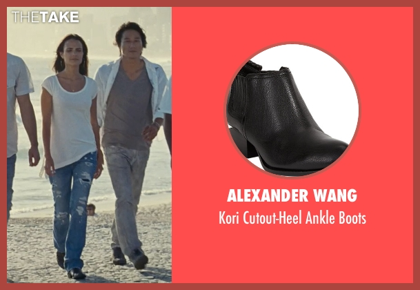 Alexander Wang black boots from Fast Five seen with Jordana Brewster (Mia Toretto)