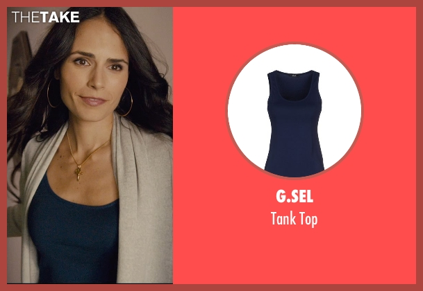 G.Sel blue top from Furious 7 seen with Jordana Brewster (Mia Toretto)
