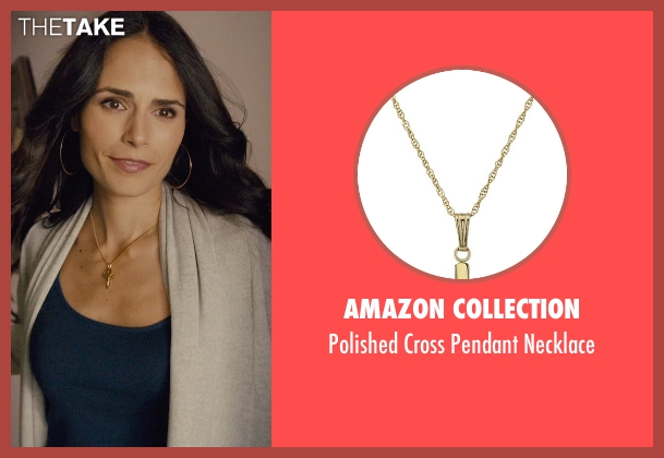 Amazon Collection gold necklace from Furious 7 seen with Jordana Brewster (Mia Toretto)
