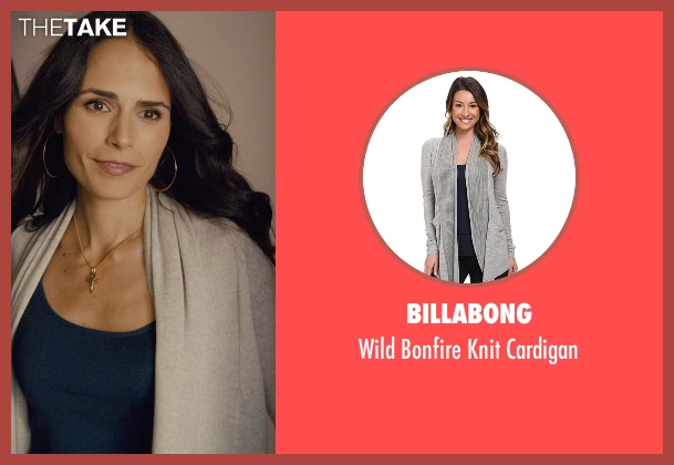 Billabong gray cardigan from Furious 7 seen with Jordana Brewster (Mia Toretto)