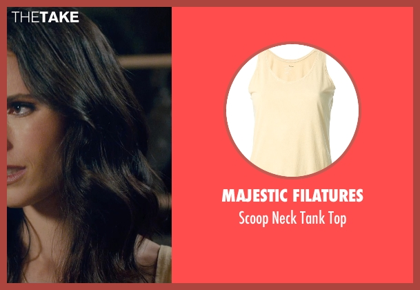 Majestic Filatures yellow top from Furious 7 seen with Jordana Brewster (Mia Toretto)