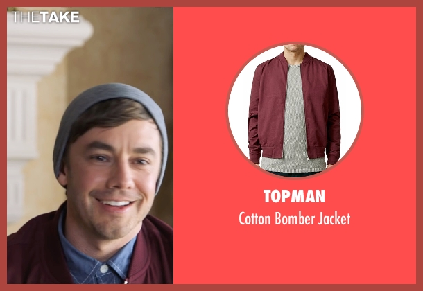 Topman red jacket from Popstar: Never Stop Never Stopping seen with Jorma Taccone (Unknown Character)