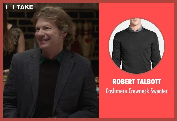 Robert Talbott black sweater from That Awkward Moment seen with Joseph Adams (Ellie's Dad)