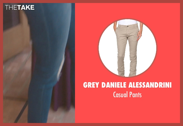 Grey Daniele Alessandrini beige pants from (500) Days of Summer seen with Joseph Gordon-Levitt (Tom)