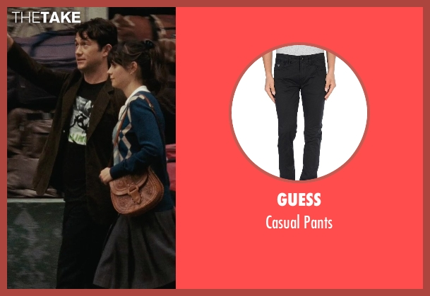 Guess black pants from (500) Days of Summer seen with Joseph Gordon-Levitt (Tom)