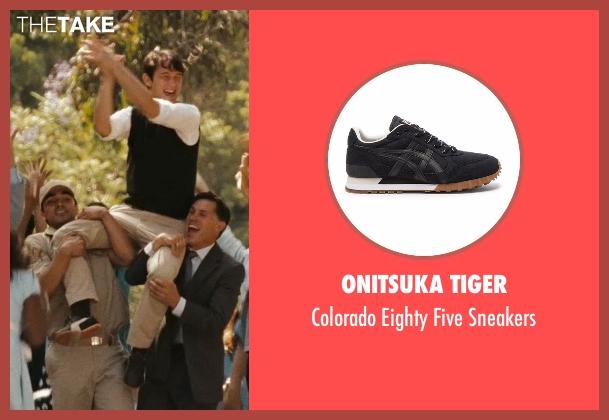 Onitsuka Tiger black sneakers from (500) Days of Summer seen with Joseph Gordon-Levitt (Tom)