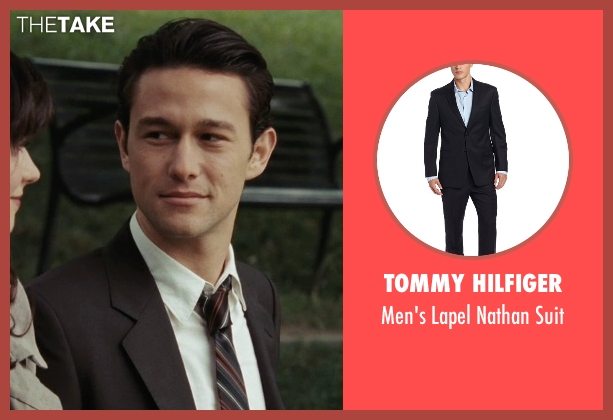 Tommy Hilfiger black suit from (500) Days of Summer seen with Joseph Gordon-Levitt (Tom)