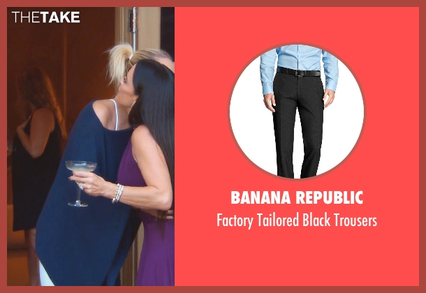 Banana Republic black trousers from (500) Days of Summer seen with Joseph Gordon-Levitt (Tom)