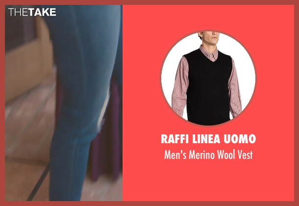 Raffi Linea Uomo black vest from (500) Days of Summer seen with Joseph Gordon-Levitt (Tom)