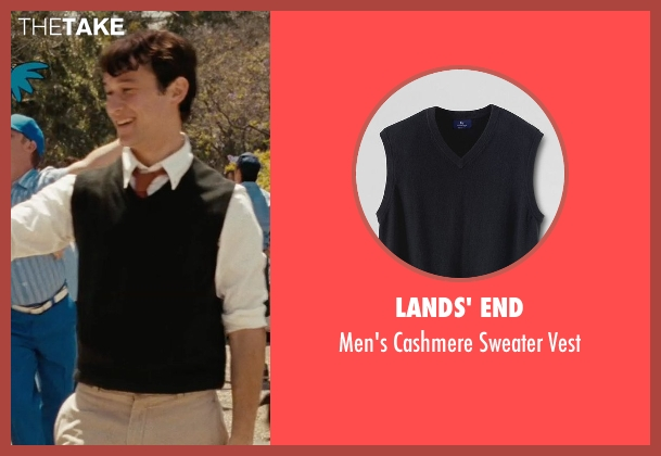 Lands' End black vest from (500) Days of Summer seen with Joseph Gordon-Levitt (Tom)