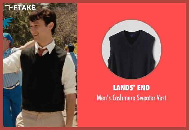 Lands' End black vest from (500) Days of Summer seen with Joseph Gordon-Levitt (Tom)