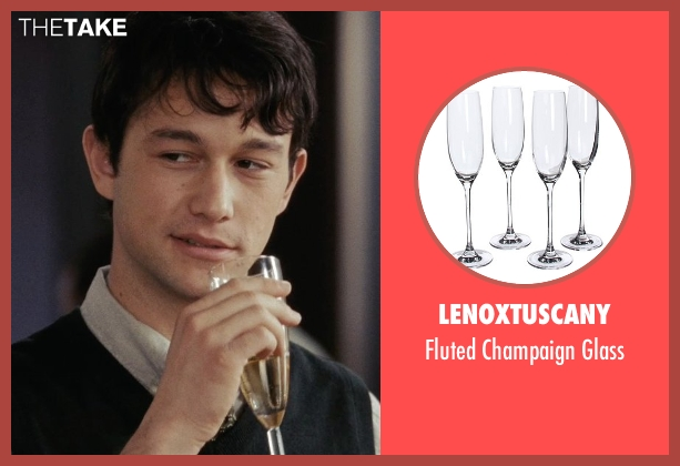 LenoxTuscany glass from (500) Days of Summer seen with Joseph Gordon-Levitt (Tom)