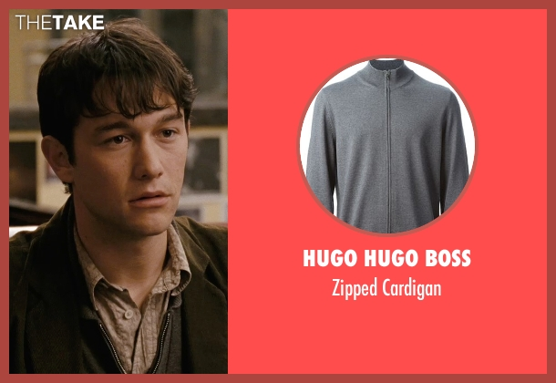 Hugo Hugo Boss gray cardigan from (500) Days of Summer seen with Joseph Gordon-Levitt (Tom)