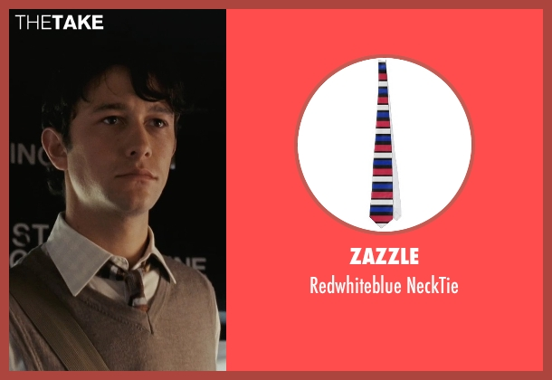 Zazzle gray necktie from (500) Days of Summer seen with Joseph Gordon-Levitt (Tom)