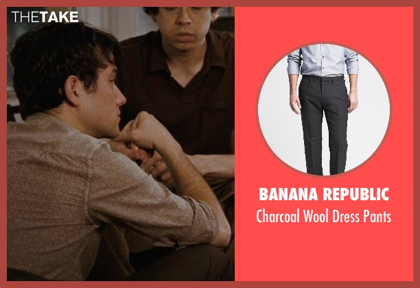 Banana Republic gray pants from (500) Days of Summer seen with Joseph Gordon-Levitt (Tom)