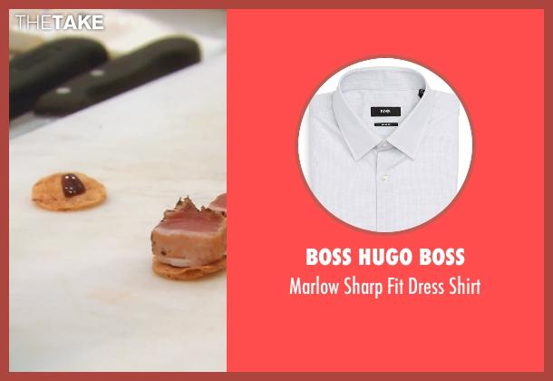 Boss Hugo Boss gray shirt from (500) Days of Summer seen with Joseph Gordon-Levitt (Tom)