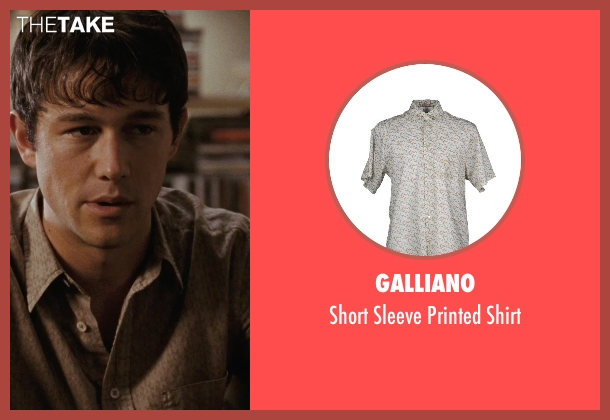 Galliano gray shirt from (500) Days of Summer seen with Joseph Gordon-Levitt (Tom)