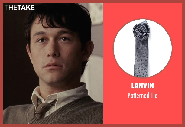Lanvin gray tie from (500) Days of Summer seen with Joseph Gordon-Levitt (Tom)
