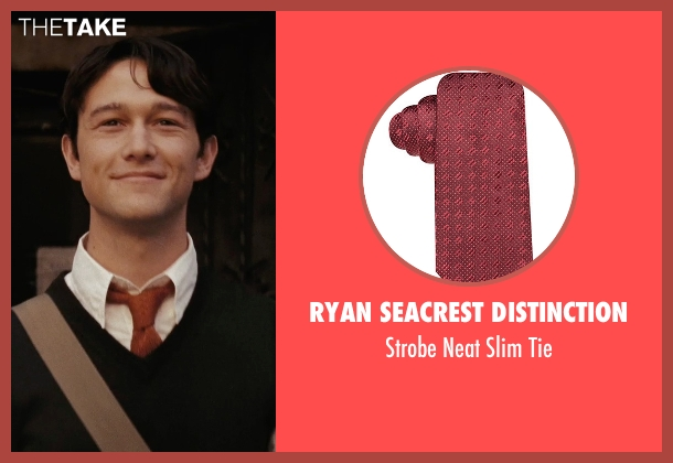 Ryan Seacrest Distinction red tie from (500) Days of Summer seen with Joseph Gordon-Levitt (Tom)