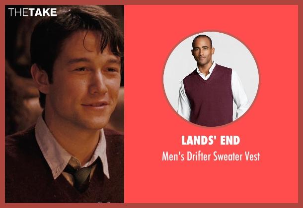Lands' End red vest from (500) Days of Summer seen with Joseph Gordon-Levitt (Tom)
