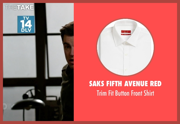 Saks Fifth Avenue RED white shirt from (500) Days of Summer seen with Joseph Gordon-Levitt (Tom)