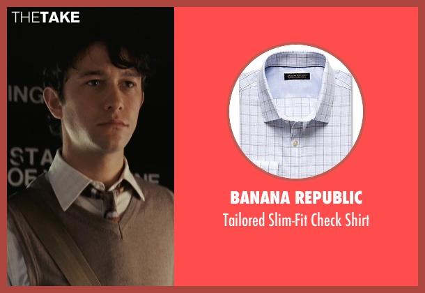 Banana Republic white shirt from (500) Days of Summer seen with Joseph Gordon-Levitt (Tom)