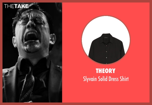 Theory black shirt from Frank Miller's Sin City: A Dame To Kill For seen with Joseph Gordon-Levitt (Johnny)