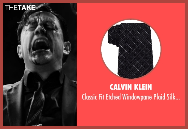 Calvin Klein black tie from Frank Miller's Sin City: A Dame To Kill For seen with Joseph Gordon-Levitt (Johnny)