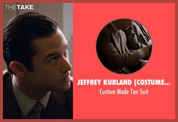 Jeffrey Kurland (Costume Designer) and Dennis Kim (Tailor) beige suit from Inception seen with Joseph Gordon-Levitt (Arthur)