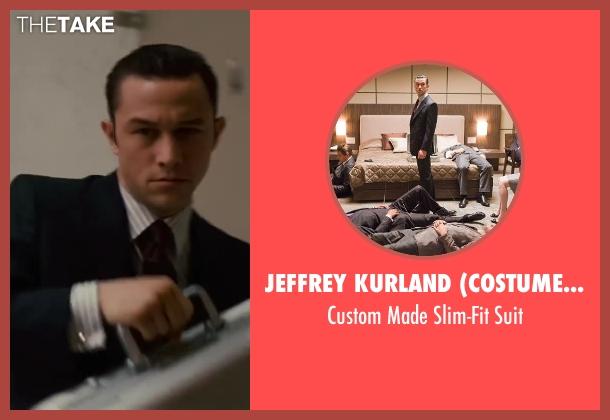 Jeffrey Kurland (Costume Designer) and Dennis Kim (Tailor) black suit from Inception seen with Joseph Gordon-Levitt (Arthur)