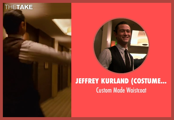 Jeffrey Kurland (Costume Designer) and Dennis Kim (Tailor) black waistcoat from Inception seen with Joseph Gordon-Levitt (Arthur)