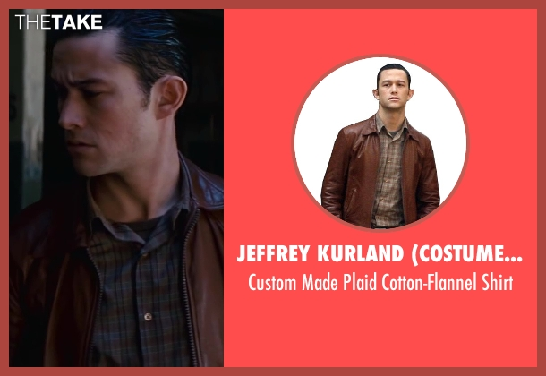 Jeffrey Kurland (Costume Designer) and Anto Beverly Hills (Tailor) brown shirt from Inception seen with Joseph Gordon-Levitt (Arthur)