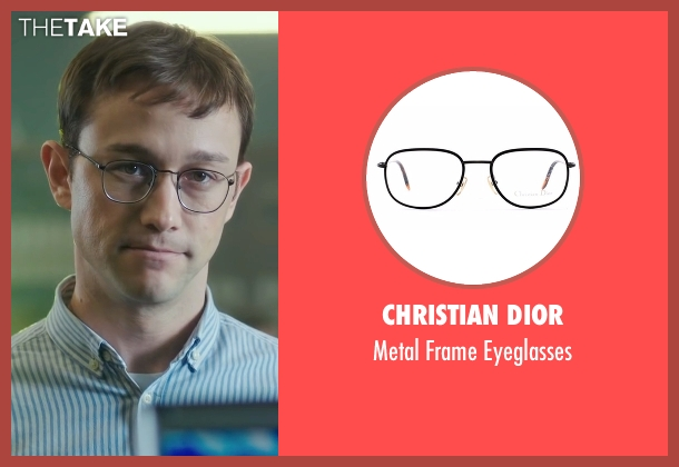 Christian Dior black eyeglasses from Snowden seen with Joseph Gordon-Levitt (Edward Snowden)