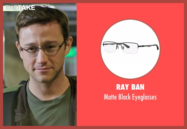 Ray Ban black eyeglasses from Snowden seen with Joseph Gordon-Levitt (Edward Snowden)