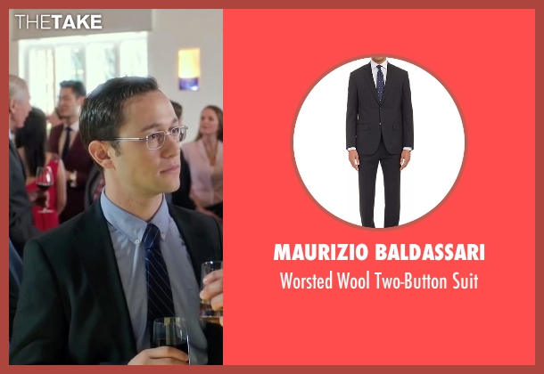 Maurizio Baldassari black suit from Snowden seen with Joseph Gordon-Levitt (Edward Snowden)