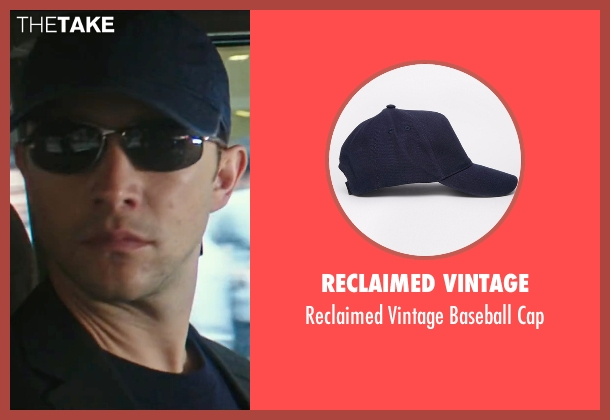 Reclaimed Vintage blue cap from Snowden seen with Joseph Gordon-Levitt (Edward Snowden)