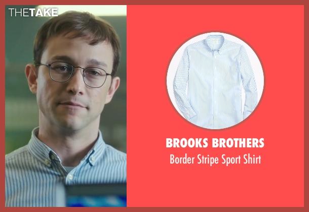 Brooks Brothers blue shirt from Snowden seen with Joseph Gordon-Levitt (Edward Snowden)