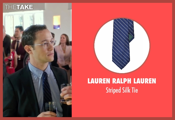 Lauren Ralph Lauren blue tie from Snowden seen with Joseph Gordon-Levitt (Edward Snowden)