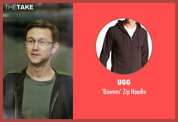 UGG brown hoodie from Snowden seen with Joseph Gordon-Levitt (Edward Snowden)