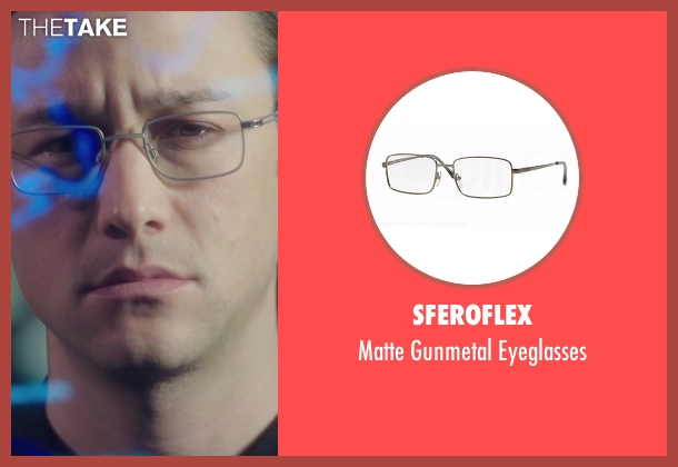 Sferoflex gray eyeglasses from Snowden seen with Joseph Gordon-Levitt (Edward Snowden)
