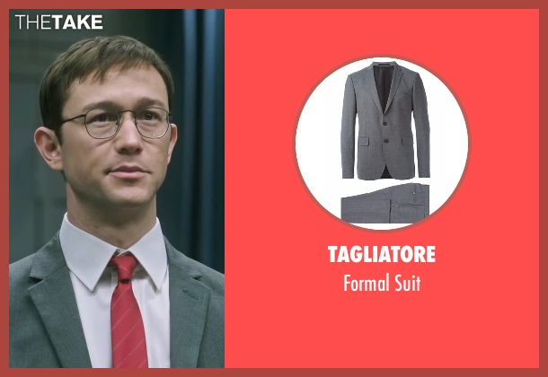 Tagliatore gray suit from Snowden seen with Joseph Gordon-Levitt (Edward Snowden)