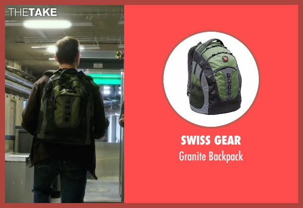 Swiss Gear green backpack from Snowden seen with Joseph Gordon-Levitt (Edward Snowden)