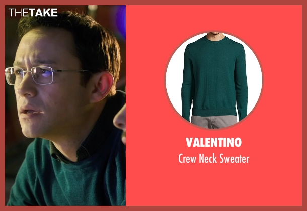 Valentino green sweater from Snowden seen with Joseph Gordon-Levitt (Edward Snowden)