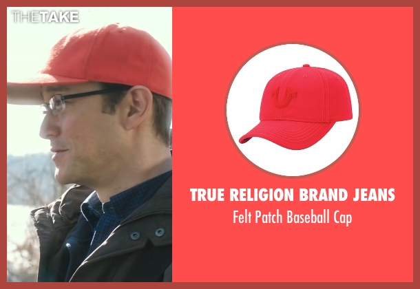 True Religion Brand Jeans red cap from Snowden seen with Joseph Gordon-Levitt (Edward Snowden)