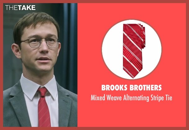 Brooks Brothers red tie from Snowden seen with Joseph Gordon-Levitt (Edward Snowden)