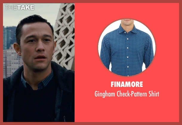 Finamore blue shirt from The Dark Knight Rises seen with Joseph Gordon-Levitt (Blake)