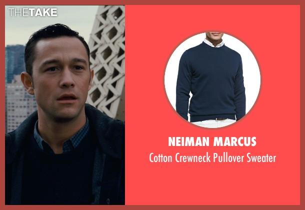 Neiman Marcus blue sweater from The Dark Knight Rises seen with Joseph Gordon-Levitt (Blake)
