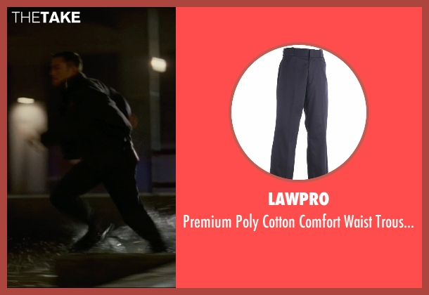 LawPro blue trousers from The Dark Knight Rises seen with Joseph Gordon-Levitt (Blake)