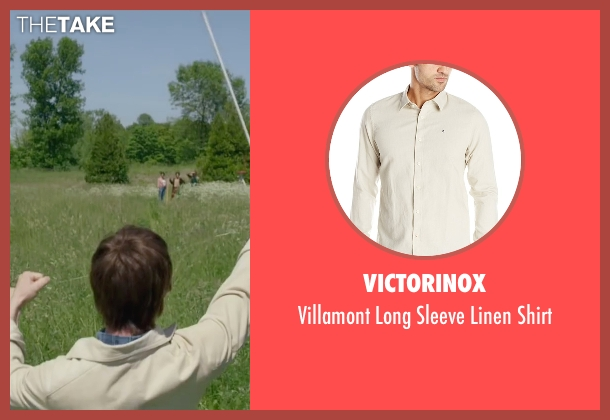 Victorinox beige shirt from The Walk seen with Joseph Gordon-Levitt (Philippe Petit)
