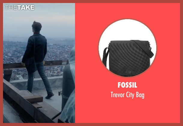 Fossil black bag from The Walk seen with Joseph Gordon-Levitt (Philippe Petit)